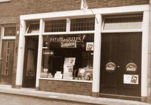 1960, Cafetaria in de Karrestraat - Den Bosch